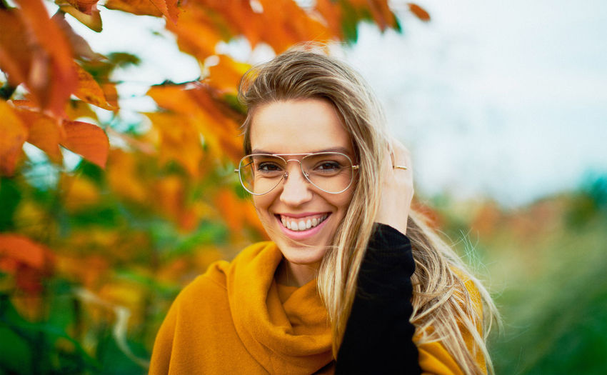 Autumn Beautiful Colors Glasses Nature Orange Sunny Tree Winter Woman Beauty Cold Day Girl Leaves Leisure Activity Lifestyles Nature One Person Outdoors Real People Smile Sun Tree Wind Young Adult Fresh On Market 2018