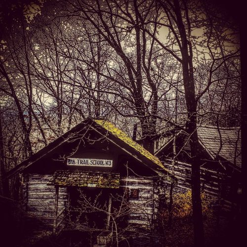 Somewhere in a Forest in the Ozark Mountains stands a little One Room Schoolhouse among the Trees. Silver Dollar City Ozarks Branson, Missouri Streamzoofamily