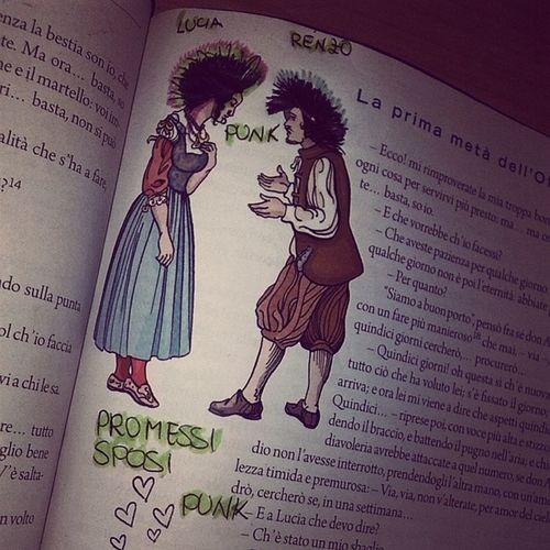 Renzo Lucia Promessisposi Versione punk punx quando non si sa cosa fare a scuola