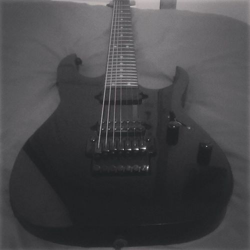 My old RG7620. Sad I had to sell this, it sounded beastly! Ibanez 7string Seymourduncan Invader Dimarzio black instaguitar @guitar.guide