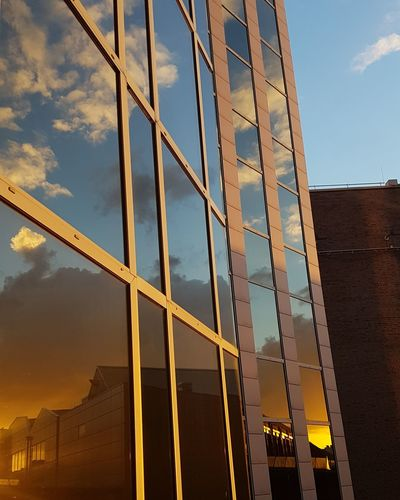 Cloud - Sky City Sky Architecture Skyscraper Sunset Golden Hour Essen Green Capital Of Europe 2017 Green Capital Ruhrgebiet RuhrgebietsRomantik Mirror Reflection Reflections Reflections In The Glass Windows Sundowner