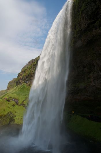 Iceland Majestic Nature Outdoors Power In Nature Waterfall Seljalandsfoss
