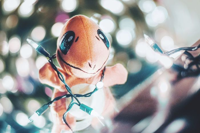 Christmas is a feeling. Close-up Indoors  One Person Day People Comic Character Christmas Christmas Tree Christmas Lights Fairy Lights Alone Photography 50mm Depth Of Field Out Of Focus Christmastime EyeEm Best Shots Photo Backgrounds No People