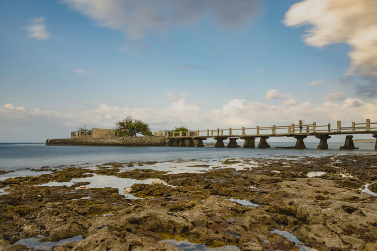 was Wrecks Abandoned Destruction Water Sea Beach Low Tide Bridge - Man Made Structure Horizon Summer Sky Horizon Over Water Coastal Feature Seascape Rocky Coastline Stack Rock Coast Coastline Tide Calm