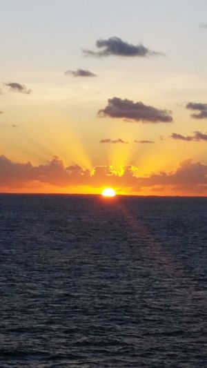 Cruiseships Tranquility Remote Rural Scene Tranquil Scene Nature Water Vacations Sunlight Horizon Sky Sunset Horizontal Sea Dramatic Sky Horizon Over Water Ocean Photography Ocean Sunset  Oceanview Ocean View Ocean Waves Oceanographic Ocean Life Ocean❤ Sunset_collection