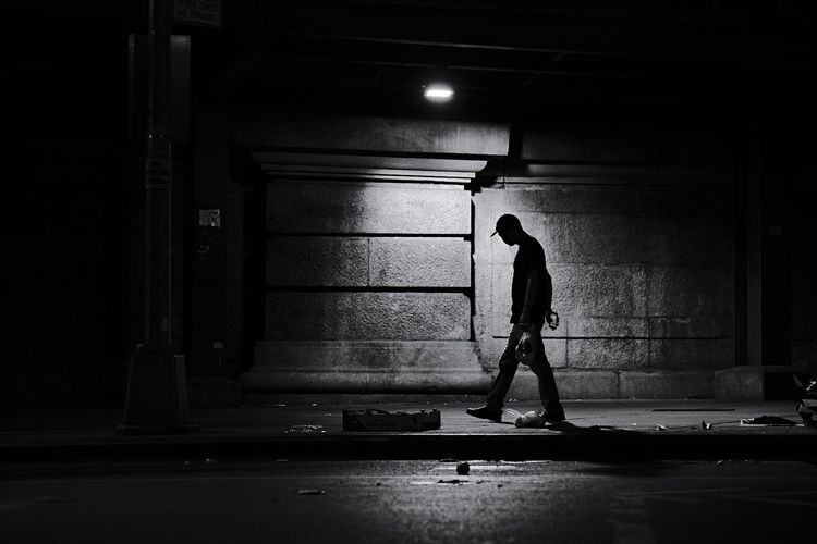 - Late night walks Streetphoto_bw Bnwphotography Bnw_captures Bnw_collection Blackandwhite Photography Blackandwhite Streetphotography EyeEm Gallery Eye4photography  eyeemphoto Travcimages EyeEm EyeEm Best Shots Nycphotographer One Person