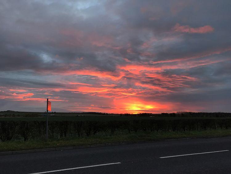 Good morning MobileSky Sunrise Sun Sky Clouds
