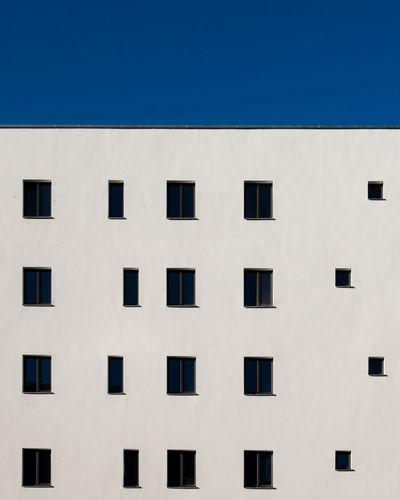 Building against clear blue sky