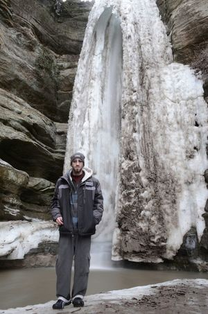 Me in front of Wildcat Canyon @ Starved Rock state park in IL. Me Selfie Water Waterfall