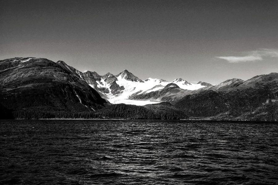 Prince William Sound, Alaska Blackandwhite Nature Glacier Prince William Sound, AK Alaska Mountains