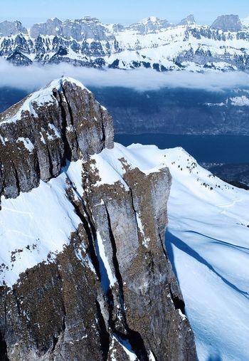 rock DJI X Eyeem Rock Snow Cold Temperature Winter Ice Frozen Mountain Nature Mountain Range Outdoors Snowcapped Mountain