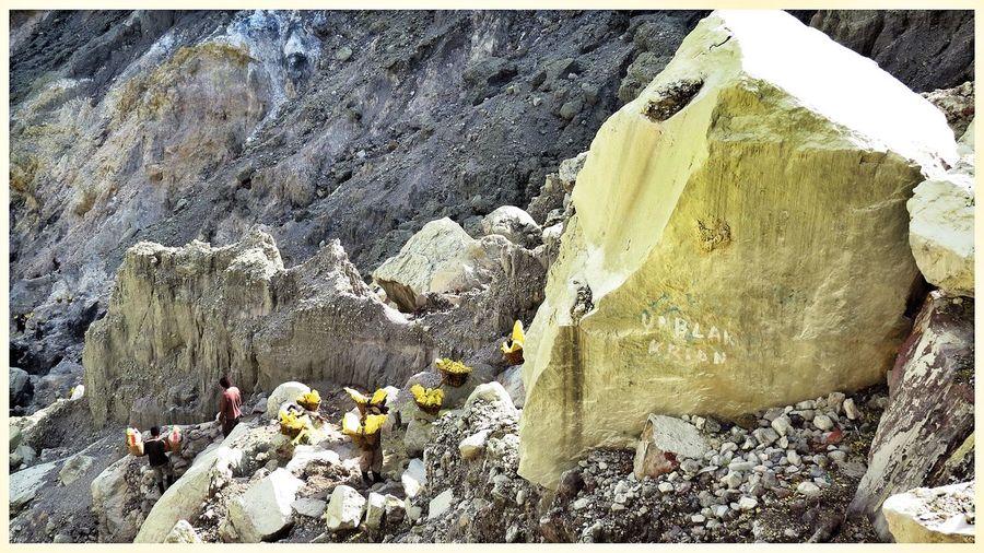 The Human Condition Yellow Suffercarriers Volcano Taking Photos Travel Photography EyeEm Best Shots INDONESIA EyeEm