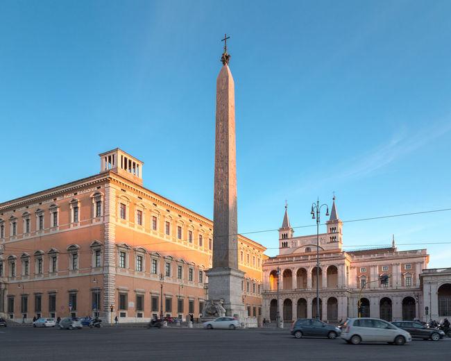 Piazza San Giovanni. Architecture Catholic Church City Historic Italy Landmark Lateran HIll Laterano Obelisk Palace Roma Rome San Giovanni San Giovanni In Laterano Travel