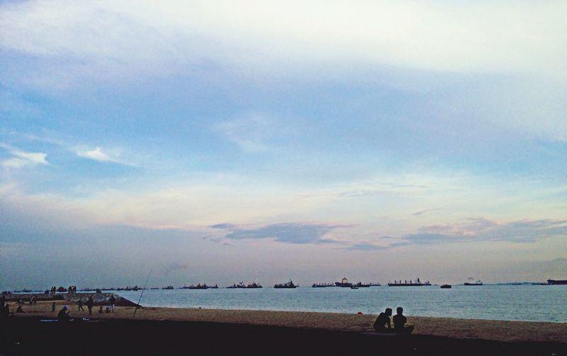 Beach Enjoying Life Landscape Clouds