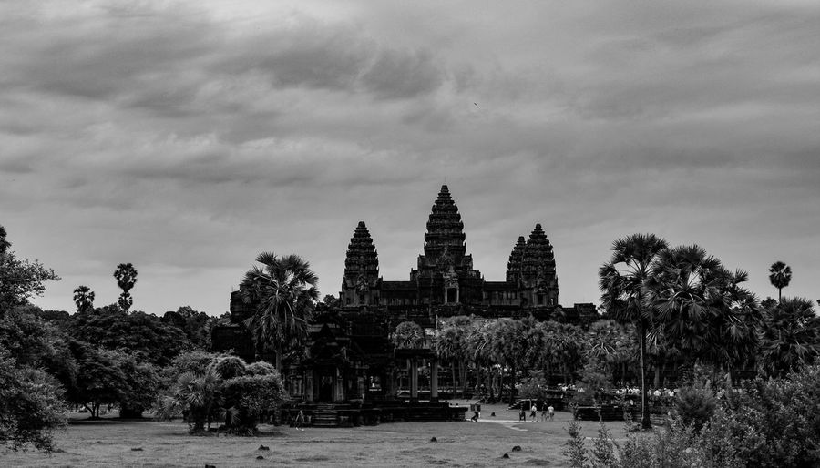Cambodia, Angkor Wat Cambodia Angkor Wat Temple Temple Architecture EyeEm Best Shots Blackandwhite EyeEm Best Shots Eye4photography  Tree Place Of Worship Sky Architecture Building Exterior Built Structure Historic Old Ruin The Past Ruined Historic Building