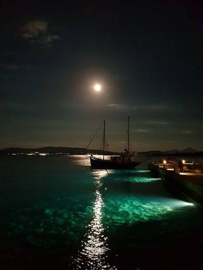 boat by night.