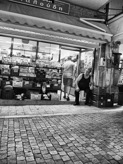 Streetphotography Bw Fujifilmx10 Fujix10 Greece Shop Kaigara Waiting for customers