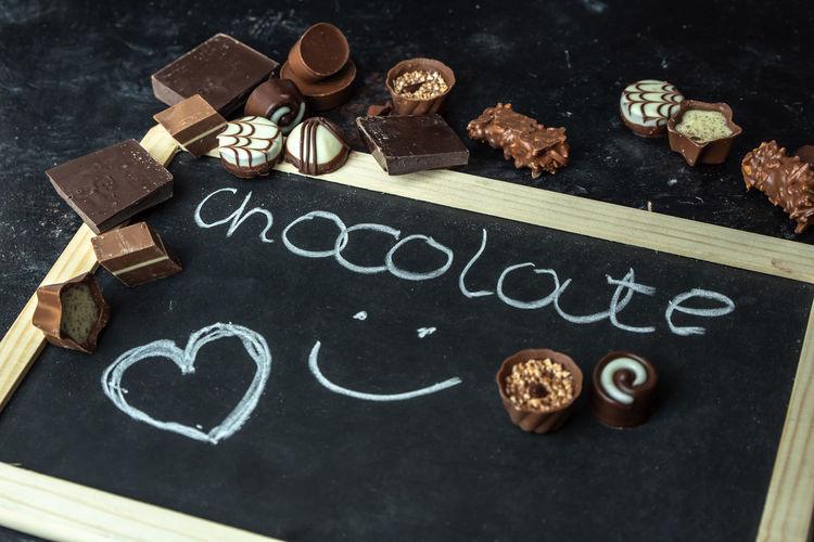 love chocolate Love Chocolate Choco Chocolate Cacao Sweet Sweets Diet Blackboard  Cookie Sweet Food Close-up Dark Chocolate