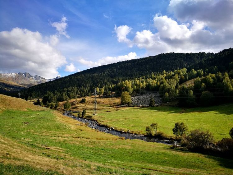 Landscape Nature Beauty In Nature Rural Scene No People Outdoors Forest Mountain Cloud - Sky Andorra🇦🇩 Green Color Lost In The Landscape Perspectives On Nature