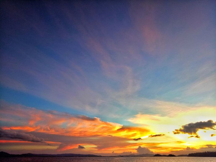 Cloud - Sky Sunset Dramatic Sky Multi Colored Scenics Outdoors Beauty In Nature Nature Sea Tranquil Scene No People Water Tranquility Sky Horizon Over Water Day Wilmor Latosa Sorsogon Sorsogonprovince Sorsogoncity