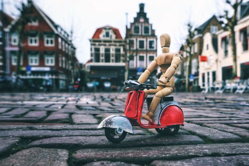 Woody drives around Haarlem Historical Building Holland Woodyforest Building Exterior Architecture Built Structure Focus On Foreground Day Outdoors City Close-up The Traveler - 2019 EyeEm Awards