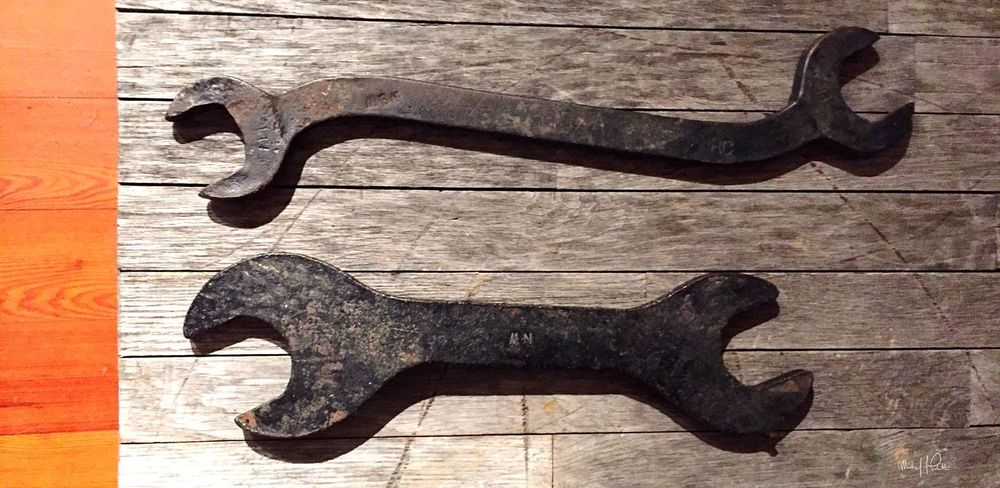 8.27.16 | Artifacts | Investigating the legitimately haunted Exchange Hotel/ makeshift soldier hospital (during the Civil War) with friends | Gordonsville, VA | Photo: Michael F. Pichette Artifacts Historic Objects Wrenches Haunted Hotel Civil War Virginia