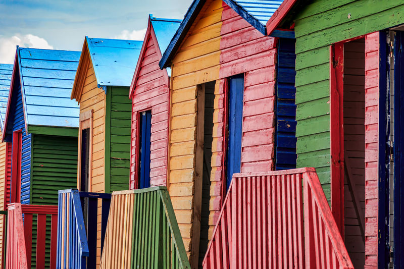 View of beach huts
