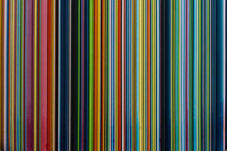 Colorful stripes of Le Moretti Abstract Architecture Arrangement Chimney Close-up Colorful Colors Design Detail Fiberglass France Lines Memorial Monument Order Paris Pattern Rainbow Repetition Shapes Tower Tubes Vertical Symmetry Wall Pattern Pieces