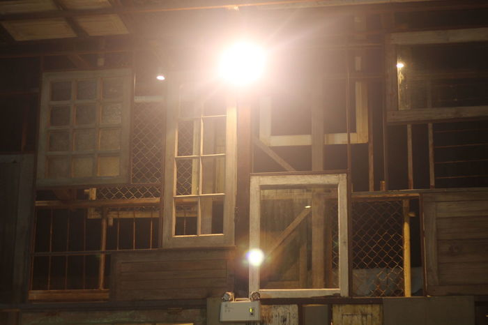 Night Illuminated Indoors  No People Built Structure Architecture Film Industry Metal Industry
