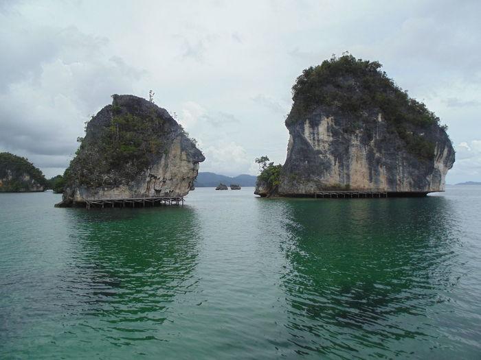 Twin rocks Tranquil Scene Rock - Object Water Scenics Nature Landscape Rock Formation