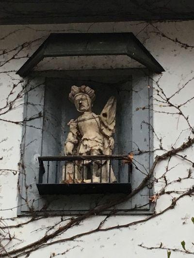 Statue Concrete Odd Broken Scary Doll