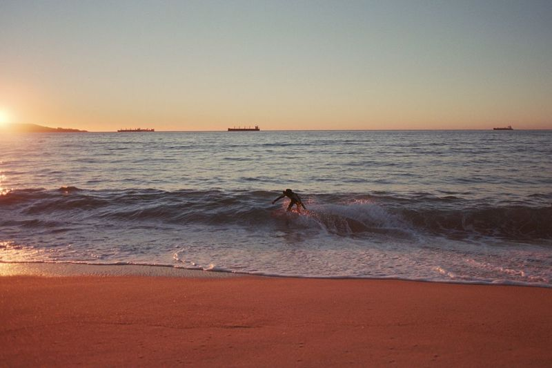 Film Photography Analogue Photography Filmisnotdead 35mm Film Beach Ocean Surf Beach Sea Land Water Sky Sunset Horizon Over Water