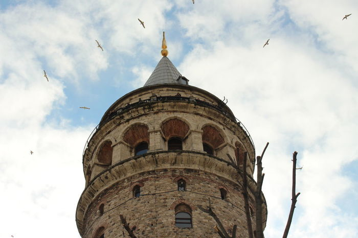 Tower Travel No People History Day Nature Colors Blue Galata Tower Spring Tbt ❤ Karaköy Istanbul Photoday Türkiye One Person Turkey