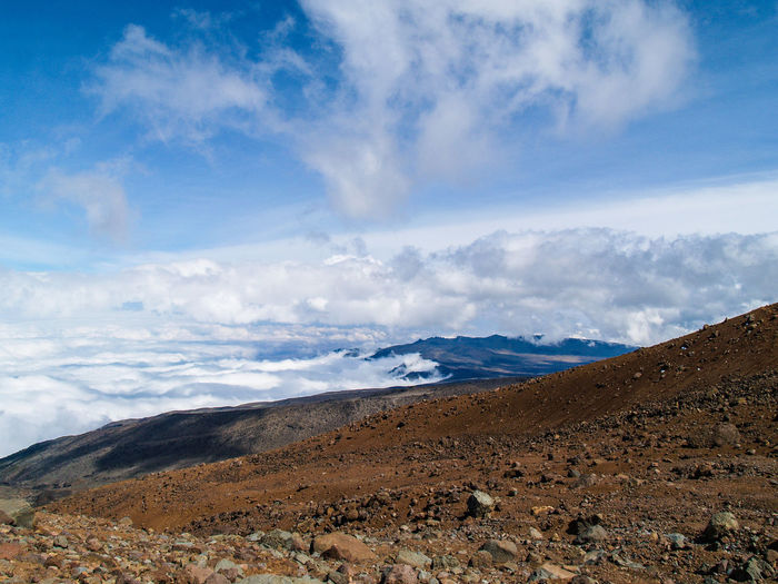Mount Kilimanjaro high camp Beauty In Nature Blue Cloud Cloud - Sky Cloudy Day Geology Horizon Over Land Idyllic Landscape Majestic Mountain Mountain Range Nature No People Non Urban Scene Non-urban Scene Outdoors Physical Geography Remote Scenics Sky Tranquil Scene Tranquility Travel Destinations First Eyeem Photo