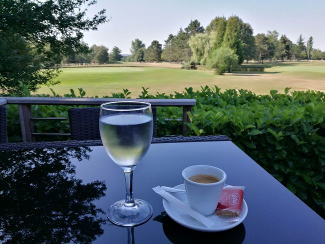 Golf Course Golf Club Lorraine ♡ Morning Hot Weather Cofee Time Cofee Break Drinking Glass Table Countryside Outdoor Chair The Still Life Photographer - 2018 EyeEm Awards