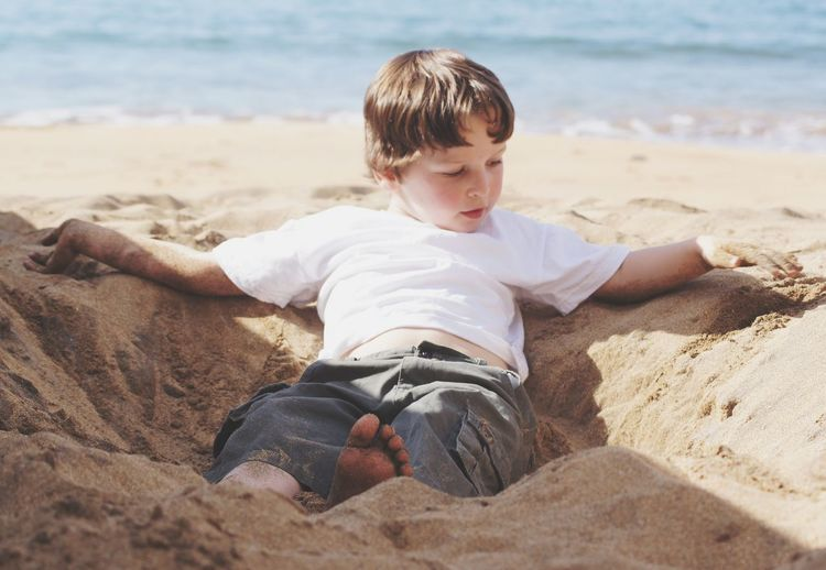 Childhood Beach Sand One Person Vacations Child Outdoors Lifestyles Real People Real Life Relaxing TCPM Australian Culture