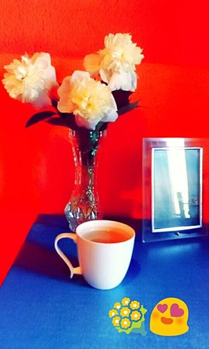 Bouquet Flowers Cupofcoffee Pictureframe