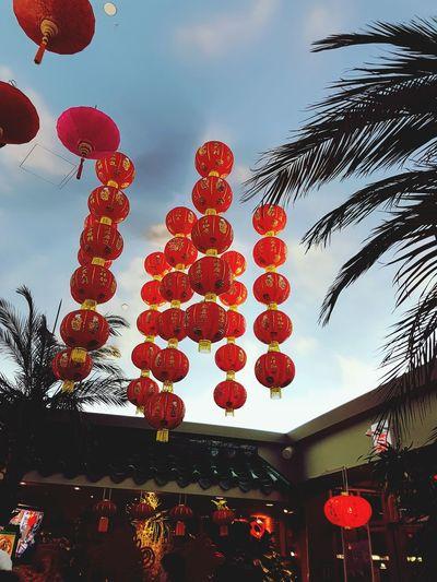 Happy Chinese New Year ❤️ Lantern Chinese New Year Hanging Chinese Lantern Festival Celebration Traditional Festival Red Illuminated Tradition Paper Lantern Chinese Lantern Repetition LINE Many