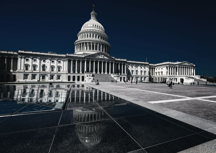 The Capitol B Blue Capitol Dome Capitol Reflection EyeEmNewHere US Capitol Building Architectural Column Architecture Building Exterior Built Structure Dome Government No People Politics Reflections In The Water Sky