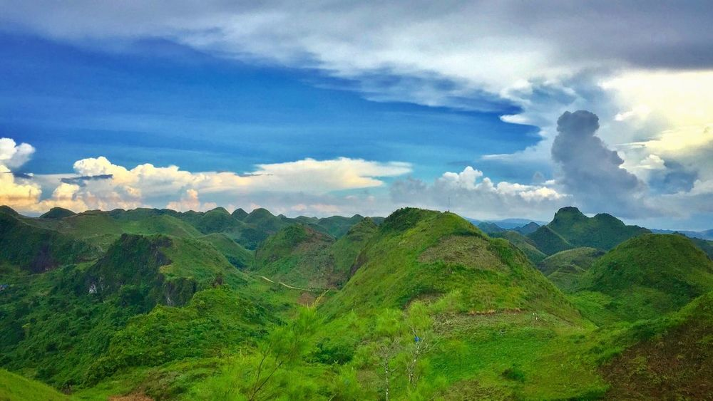 Mountain Sky Nature Beauty In Nature Cloud - Sky Scenics Day Outdoors Landscape Mountain Range Adventure Travel Destinations Scenery Tourism Blue Sky Hill Relaxation Osmeña Peak Cebu City, Philippines