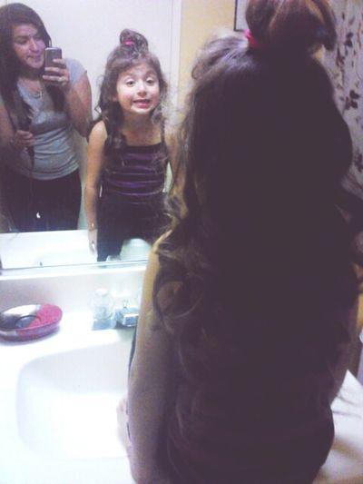 Doing My Sis Hair[=