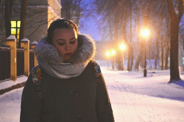 Winter One Person Outdoors Novgorod Atmospheric Mood Atmospheric Scene Cold Temperature