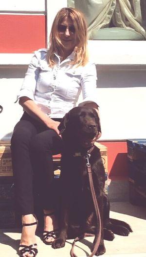 Thelma Ale Friendship Pets Retriever Child Sitting Full Length Dog Puppy Embracing Bonding