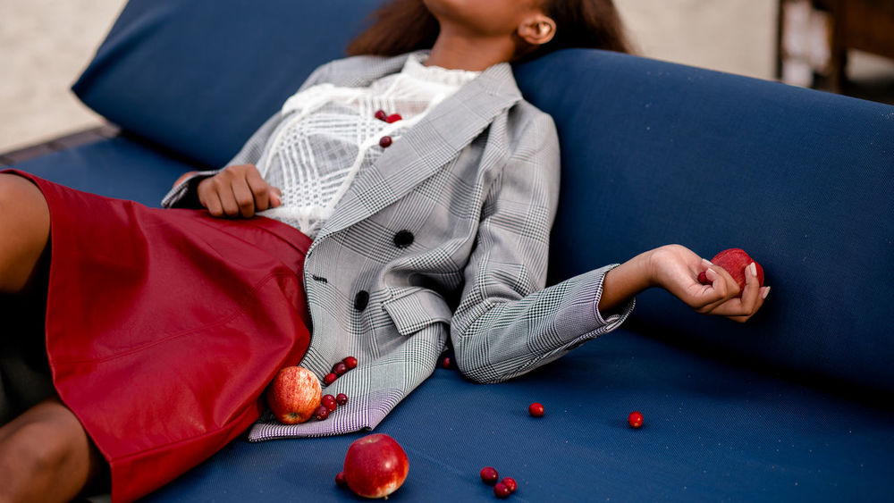 snow white Apple Apple - Fruit Portrait Portrait Of A Woman Girl Hand Close-up Snow White Fashion Fashion Photography Women Red Sitting Human Hand Youth Culture Head And Shoulders Body Part Wearing Inner Power
