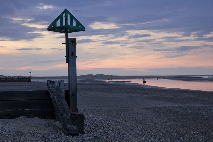 Beach Wells-next-the-Sea Coast Groyne Sunset Landscapes With WhiteWall The KIOMI Collection
