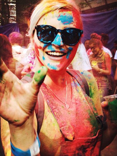 Bhangra Holi Hai Festival Colors Spring EyeEm Best Shots Portrait Of A Woman Festival Of Colors
