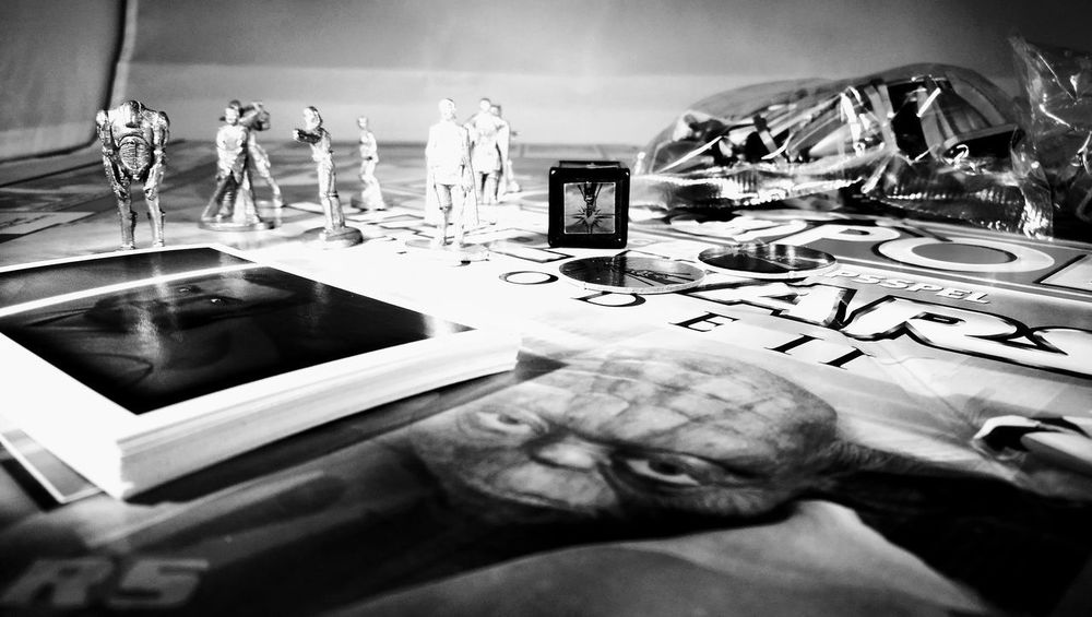 Star Wars Game Monopoly Science Fiction Greyscale No Colors Close-up Technology Indoors  Board Games Board Game Playing Games Playing Monopoly Playing Boardgame