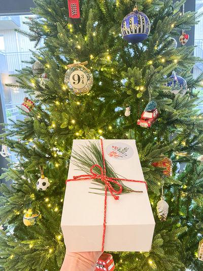 Christmas decoration hanging on tree