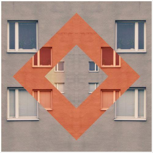 Digital composite image of building