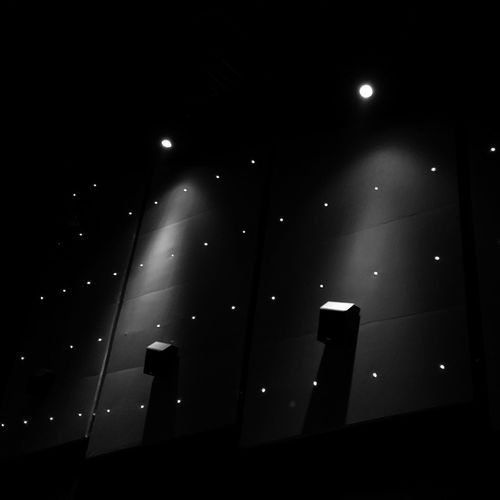 Lights on Illuminated Night Lighting Equipment Indoors  No People